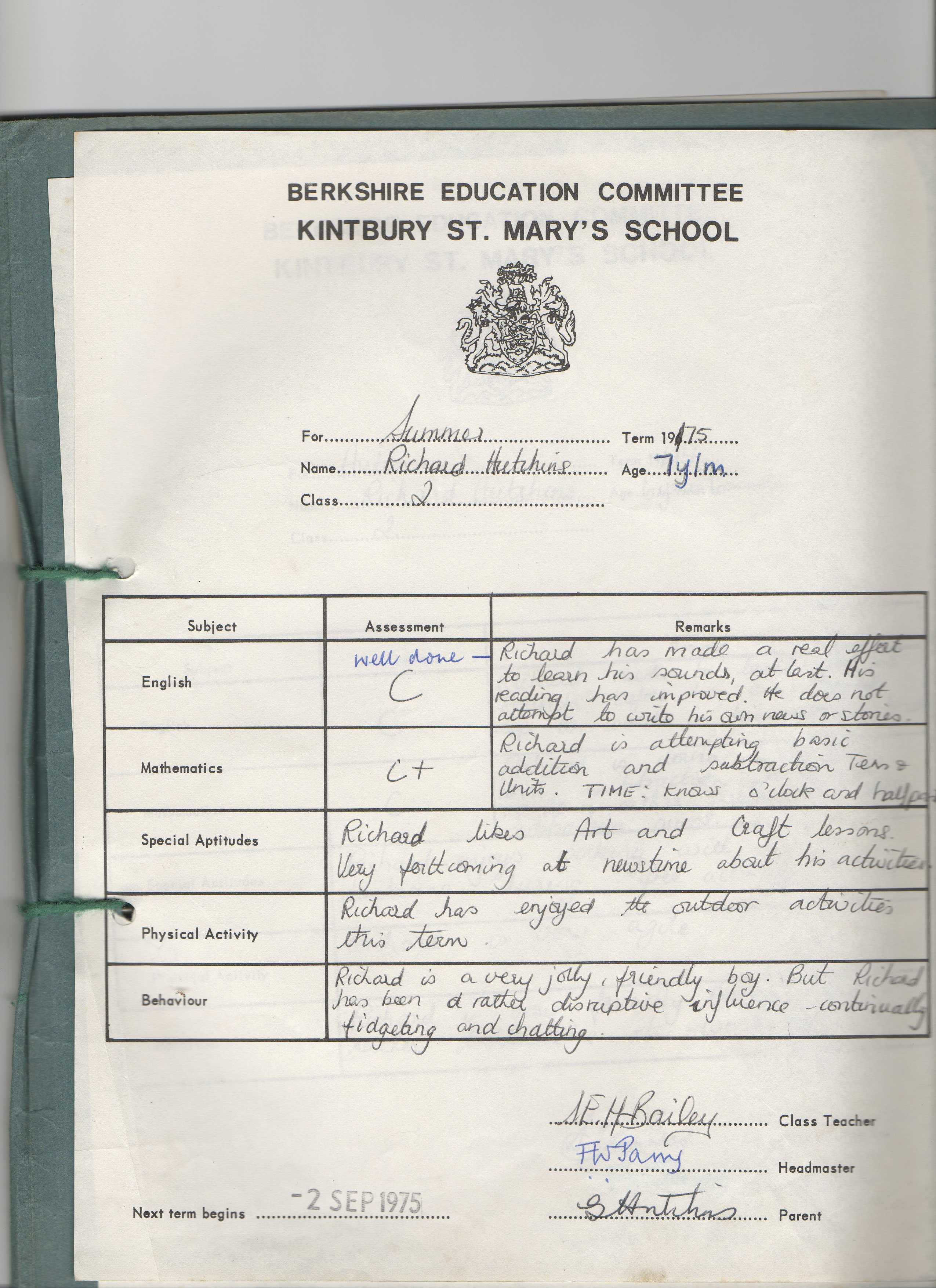 richard-school-report-summer-1975-kintbury