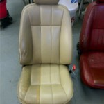 part restored jaguar seat