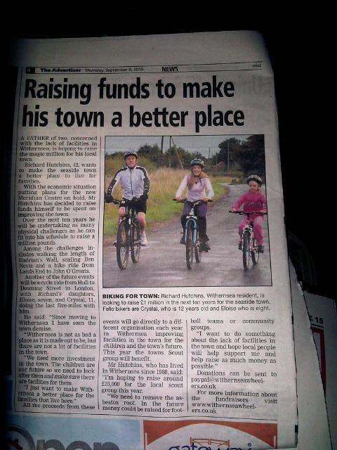 Withernsea Wheelers in the press